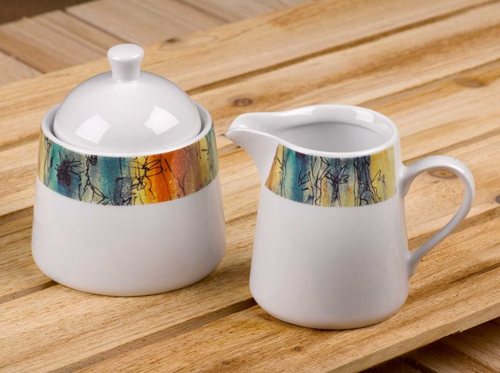 Banyan Trees - Creamer Jug and Covered Sugar Set preview