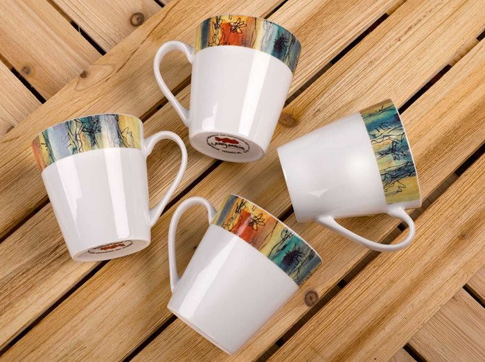 Banyan Trees - 12oz Porcelain Mug, Set of 4 preview